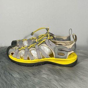 Keen Whisper Waterproof Yellow Grey Hiking Sandals